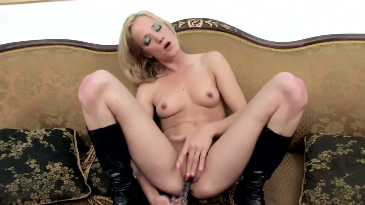 Skinny Blonde Interracial Anal