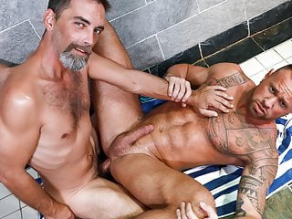 Muscular guy assfucked by man...