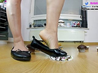 Here I am crushing Trample muffins with my ballerinas in nylons