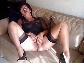 Granny masturbates after church...