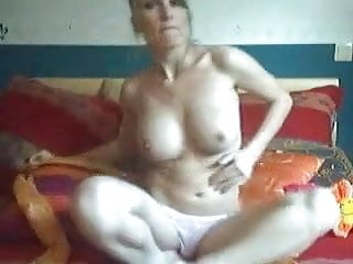 Shaved Blonde GF with Big Boobs Masturbates by snahbrandy