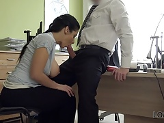 LOAN4K. Special sex casting is passed by brunette
