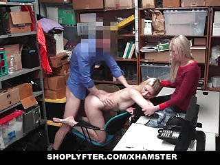 Shoplyfter – Young Daughter Fucks Cop To Save Mom