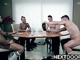 High stakes poker takes a sexual turn between the guys
