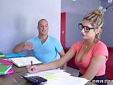 Brazzers - Sexy nerd August Ames needs a study break