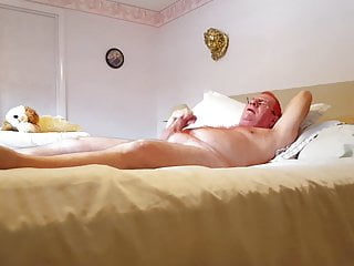 Daddy Tim strokes his cock and cums for me