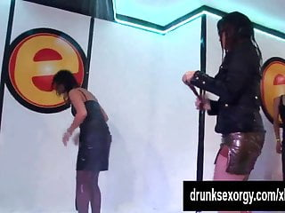 Wet sluts dancing and fucking toys party...