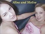 Aline with her girlfriends