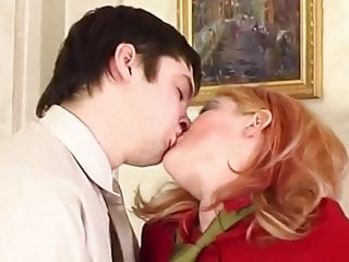 Stepson catches mom playing with her pussy