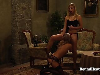 Glowing Lesbian Slave Sophie Drives Her Madame To Orgasm