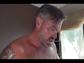 Hot bear fucks young hunk