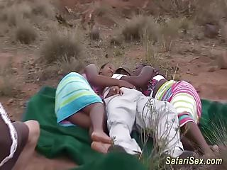 Fast african orgy...