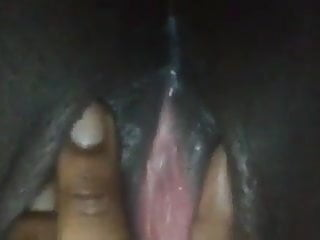 Juicy black dripping pussy...
