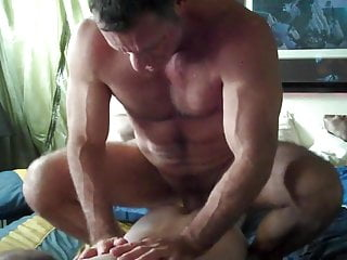 Verbal big dicked muscle daddy fucks a boy...