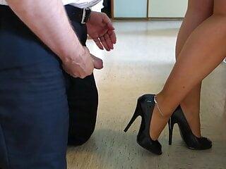 femdom - cum with heels