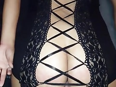 Hot ass wife fucking in sexy lingerie