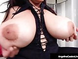 Latina BBW Angelina Castro Rubs Her Plump Pussy & Big Boobs!