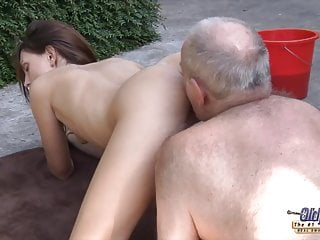Grandpa fucks young pussy so and wet ready...