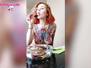 Teen Big Natural Tits Fingering Pussy  Dancing and Cooking