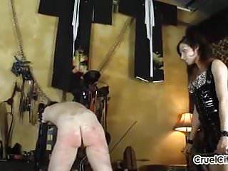 Isobel brutally canes her slave 039 bare...