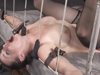 In bondage fucked mercilessly by white dude and...
