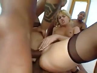 White chicks dick gangbang 2...