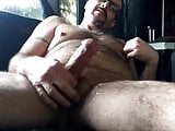 hairy mature's morning wank(sweet nipple)