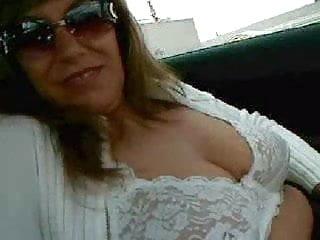 German Wife Flashing Tits In Car