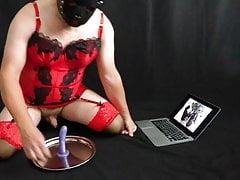 Femdom Mistress Catches Sissy Watching Sissy Porn