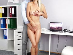 Gorgeous Light-haired Office Honey Taunting Her Colleague
