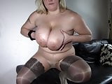blonde bbw in pantyhose