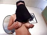 NUDE ARAB GIRL WEARING HIJAB MASTURBATES