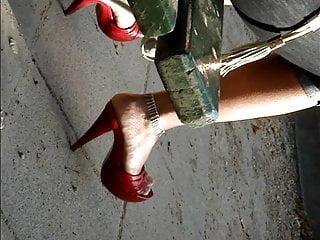 Candid excessive heels #29