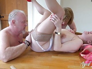 Agedlove two matures and handy threesome...