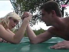 Pamela vs. Mickey – nude mixed match