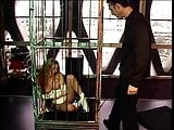 Master teasing slut with dildo and fucks her