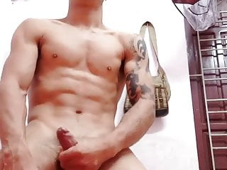 handsome asian guy wanking for the web (22'')