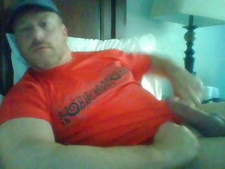 dad jock in red stroking