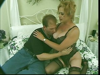 Hung blonde tranny pounds her man's ass before getting fucked