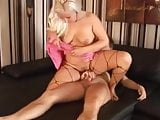 Chubby blonde fisted then fucked