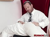 Mormon hunk gets spanked