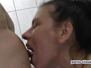 Unknown fucked in bath and gets cum on...