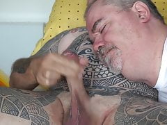 Gay slut sucks and swallows