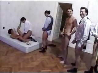 Mature Anal Gangbang on the Bed
