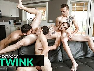 Twink Orgy With Plenty Of Blowjobs And Ass Pounding