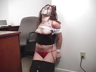 Secretary bound gagged and stripped...