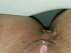 Spanish milf Scarlet watch as my hot squirt comes out slowly