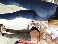 Two Sizzling Teenager Hoes In The Supermarket