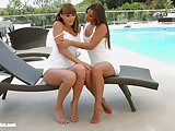 Amirah and Victoria Daniels in lesbian scene by Sapphic
