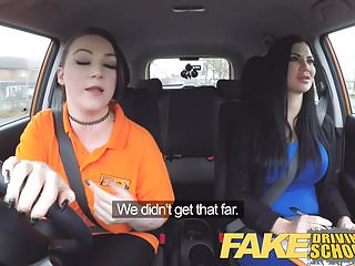 Pretend Riding College Busty lesbian ex-con eats lovely examiners
